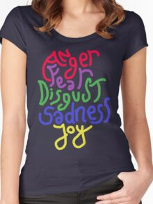 Anger, Fear, Disgust, Sadness, Joy! Women's Fitted Scoop T-Shirt