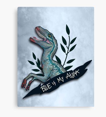 Blue is my Alpha Canvas Print