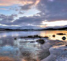 Frozen Loch Tulla by shutterjunkie
