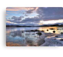 Frozen Loch Tulla Canvas Print