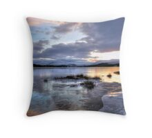 Frozen Loch Tulla Throw Pillow