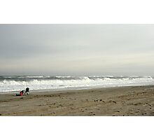 North Carolina Beach in Winter Photographic Print