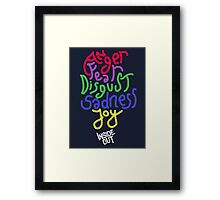 Inside Out characters with the logo! Framed Print