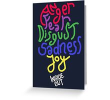 Inside Out characters with the logo! Greeting Card