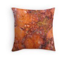 Orange Lumps Throw Pillow