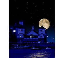 Knightstone Island in Moonlight Photographic Print