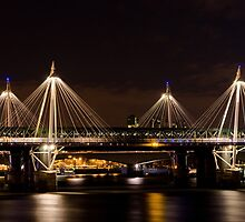 Golden Jubilee & Hungerford bridges, London by George Parapadakis (monocotylidono)