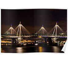 Golden Jubilee & Hungerford bridges, London Poster