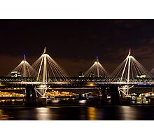 Golden Jubilee & Hungerford bridges, London Photographic Print