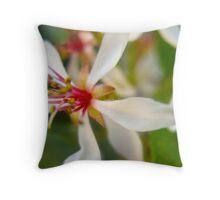 White Whisper Flowers Throw Pillow