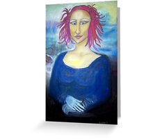 Funky Mona Lisa Greeting Card
