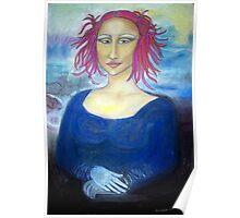 Funky Mona Lisa Poster