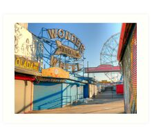 wonder wheel 1 Art Print