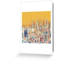 philadelphia panorama Greeting Card