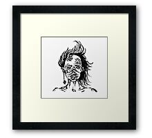 Mermaid Face Framed Print