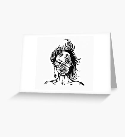 Mermaid Face Greeting Card