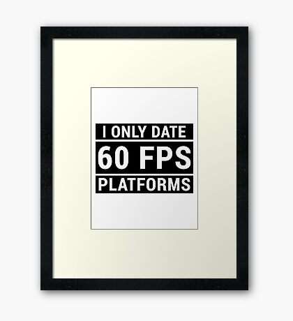 PC Master Race - 60 fps Framed Print