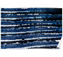 Blue, White & Black Abstract Background Poster