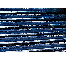 Blue, White & Black Abstract Background Photographic Print