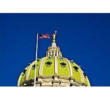 The Capitol Dome-Harrisburg, PA Photographic Print