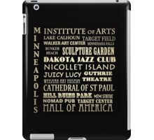 Minneapolis Minnesota Famous Landmarks iPad Case/Skin
