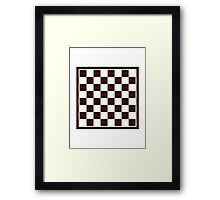 Checkers board Framed Print