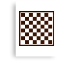 Checkers board Canvas Print