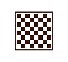 Checkers board Photographic Print