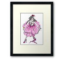 Lady Cupcake Framed Print