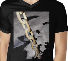 Chained Mens V-Neck T-Shirt
