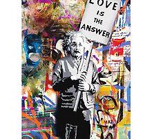 Banksy Love Is The Answer Graffiti Street Art  by baray7
