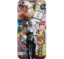 Banksy Love Is The Answer Graffiti Street Art  iPhone Case/Skin