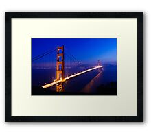 Overlooking the Golden Gate Framed Print