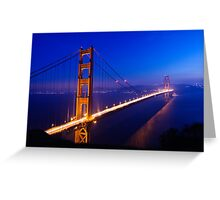 Overlooking the Golden Gate Greeting Card