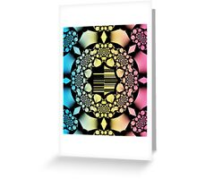 Rosary fractal pattern Greeting Card