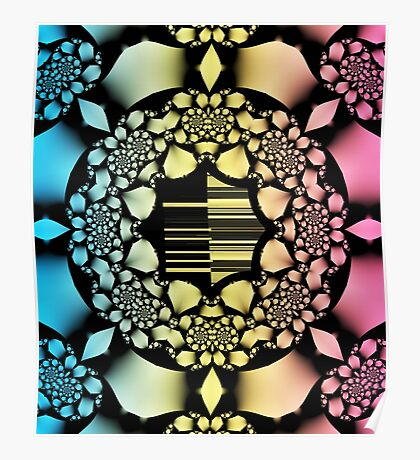 Rosary fractal pattern Poster