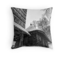 Real Holly Wood III Throw Pillow