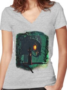 Bioshock Infinite Songbird & Elizabeth Women's Fitted V-Neck T-Shirt