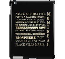 Montreal Quebec Famous Landmarks iPad Case/Skin