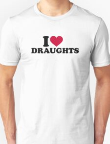 I love draughts Unisex T-Shirt