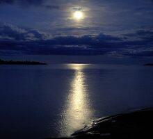 Superior Moon - Isle Royal National Park by Mark Heller