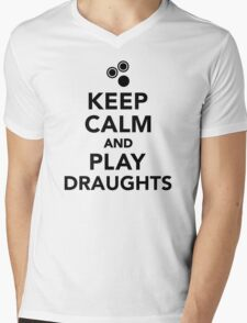 Keep calm and play draughts Mens V-Neck T-Shirt