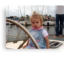 Katie Sailing Canvas Print