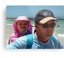 Bronte and Daddy Metal Print
