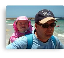 Bronte and Daddy Canvas Print