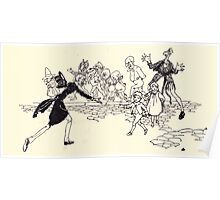 The Zankiwank & the Bletherwitch by Shafto Justin Adair Fitz Gerald art Arthur Rackham 1896 0156 There He Is Poster