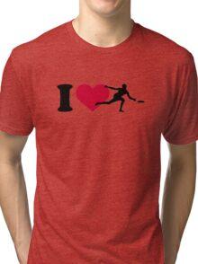 I love Disc golf Tri-blend T-Shirt