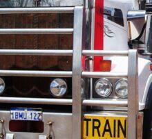 Old truckies never die Black writting Sticker