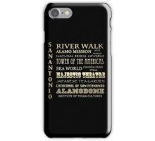 San Antonio Texas Famous Landmarks iPhone Case/Skin