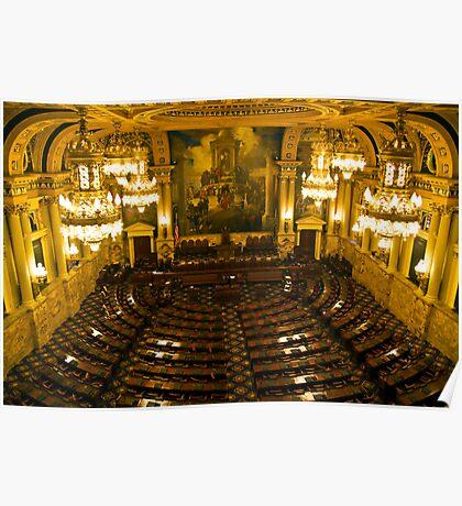 PA House of Representatives Room-Harrisburg, PA Poster